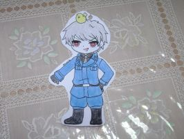 Chibi Prussia! (paper child) by SilverReira