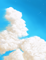 Clouds speedpaint by hau