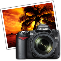 Nikon D90 - iphoto dock icon by sanand