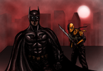 Batman vs Deathstroke by AraxussYexyr