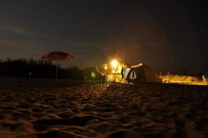 Night on Ezerets beach by dianora