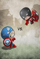 Captain America vs. US Agent by thedarkgecko