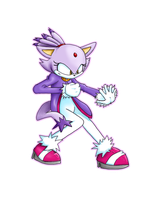 Blaze the Cat: Fighting Pose by Roseheart53