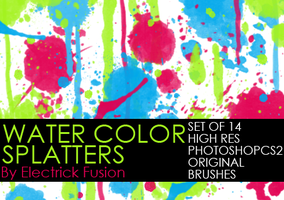 water color splatter brushes by ElectrickFusion