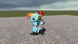 Mario hitches a ride... by Great-5