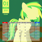 OC Calendar 2015 : January - Glaze by LimeDreaming