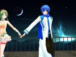 KaitoxGumi Last Night Good Night MMD by Haleylamperouge