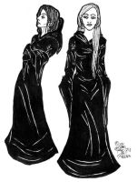 bellatrix and narcissa by clytie