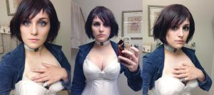 Bioshock Infinite: Elizabeth Makeup and Hair Test by CosplayInABox