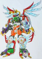 ONIRANGERS part 4: OCTO STRIKE MEGAZORD by kishiaku