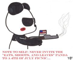 Nothing says 'patriotic' like an AK47 and a panda by megrim96
