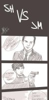.: Sherlock VS Moriarty :. by xMarsXXX