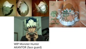 WIP 2 Monster Hunter  AKANTOR head by okageo
