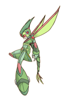 Flygon Armor X - Colored by Exate