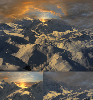 Matte painting mountains by Micto0901