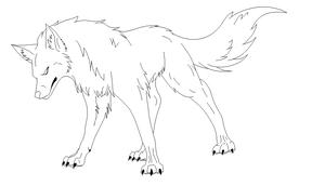 Wolf lineart by DinoGirl500