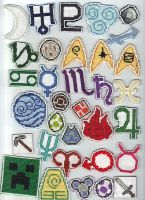 Cross Stitch Patches 3 by purenightshade