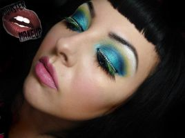 aqua rainbow by munstermakeup