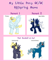 Mlp Offspring Meme Trinity and Oddity by The-Clockwork-Crow