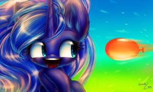 The water balloon... and Luna by Queen-KittyKat