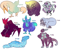 Adoptables by mute-owl
