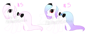 Pastel Gothic ponies #2 (Adoptable) OPEN JUST $3 by Midnight-Estelle