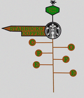 Starbucks Sign by Revolution689