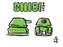 Chibi Tank by Secret-Agent-Rabbit