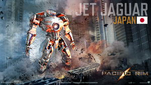 Pacific Rim Jaeger Poster-Jet Jaguar (Japan) by Neville6000