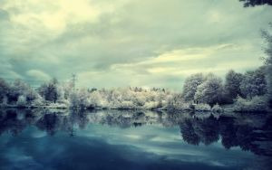 winter lake wallpaper by fluentwater