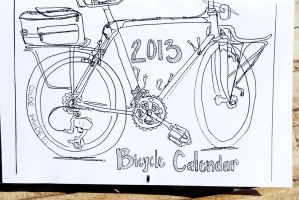 2013 Bicycle Coloring Calendar III by revolta