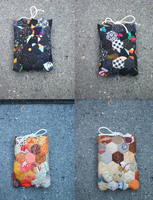 Reversible mini hexagon Nook cable pouch by Magical525