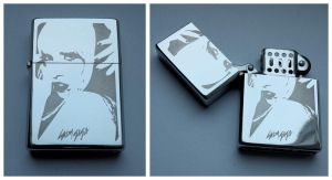 LADY GAGA - engraved lighter by Piciuu
