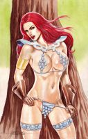 Red Sonja (#1) by J.D. Felipe by VMIFerrari