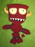 The Robot Devil Plushie by JaimeNWester