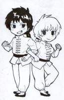Ranma Chibi Inks by michielynn