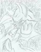 FoD Sonic - Enraged Scribble by Azuroru