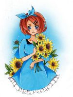 sunflower girl by Nevaart