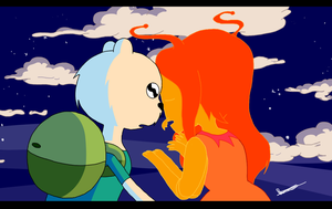 AT - Finn the bear and Flame ant princess by 10SHADOW-GIRL10