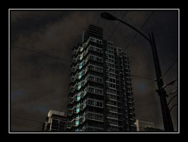 Stormy Night in Vancouver by skip2000