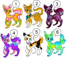 Feline Adoptables .:OPEN:. by toxicfoxes