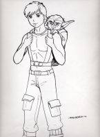 Luke and Yoda by SMH-REDELK