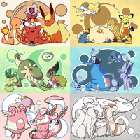 Pokemon Colors~ by loverofscythe