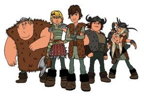 HTTYD - Vikings Colored by halo-again