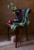 with a chair and a cat by An-gora