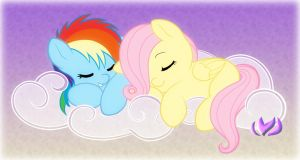 Napping In The Clouds by raininess