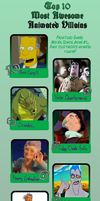 LC's Top Ten Animated Villains - OLD by LadyCharizard