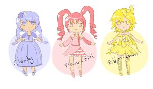 Cutie Pie Magical Girl Adopts - OPEN by Ririkou-Adopts