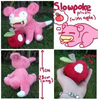 Slowpoke plush (with apple) for sugarstitch by scilk