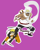 Naruto and Killer Bee by NinjaMia